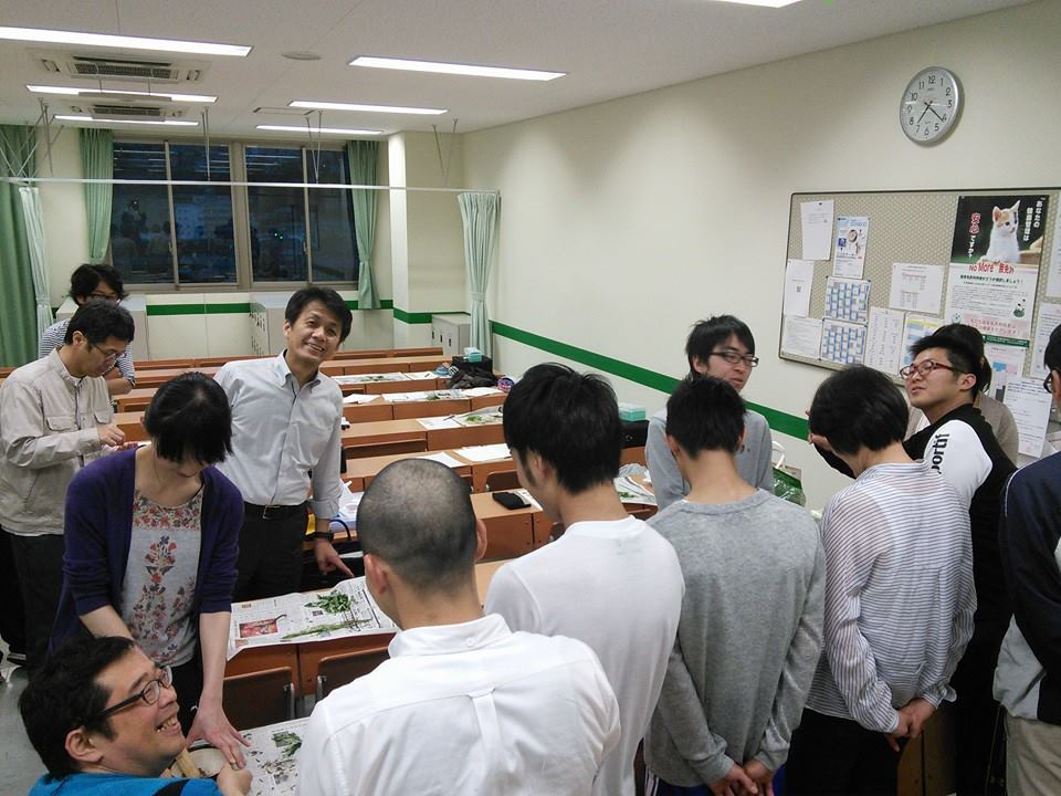 もぐさの製造に関する講演風景-朝日医療専門学校広島校様_2014